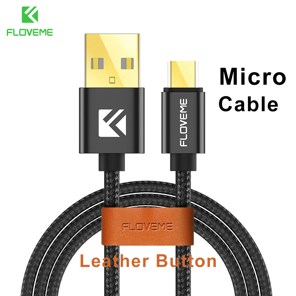 FLOVEME Nylon Mobile Phone Micro USB Cable Samsung Xiaomi Huawei LG Fast Charging Cable Wire Samsung S5 Charging Cables