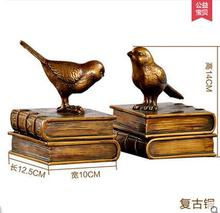 European style Bookcase study ornaments retro bird Bookends creative bookshelf Decor Book Home Furnishing bookend American