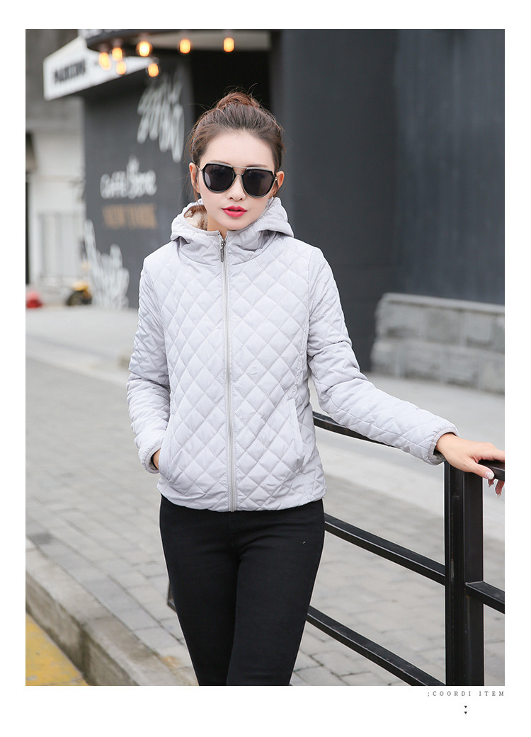 Autumn 2018 New Parkas basic jackets Female Women Winter plus velvet lamb hooded Coats Cotton Winter Jacket Womens Outwear coat 24