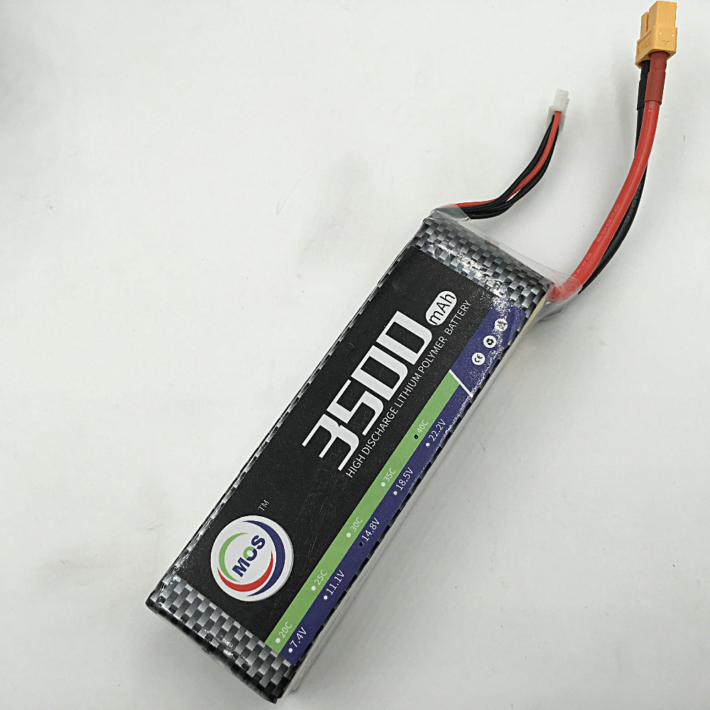 MOS 4S 14.8V 3500mah 30c lipo battery for rc air plane free shipping<br>
