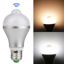 Motion Activated LED Bulb E27 5W 7W Aluminum Design PIR Infrared Detection Auto LED Lamp with Motion Sensor Night Light(China)