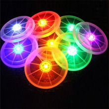 Fun Toy Sports Colorful Peradix Flying LED Disk Light Up Flashing Frisbee Outdoor Multi Color Kids Toys Flying Saucer Disc UFO(China)