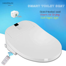 Automatic toilet seats remote control intelligent electronic bidets Instant Hot saet cover led light drying heating(China)