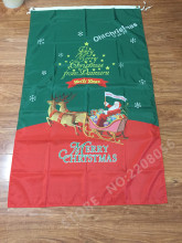 3X5FT New Year Merry Christmas flag outdoor Santa Claus decorative banner Free shipping 100D