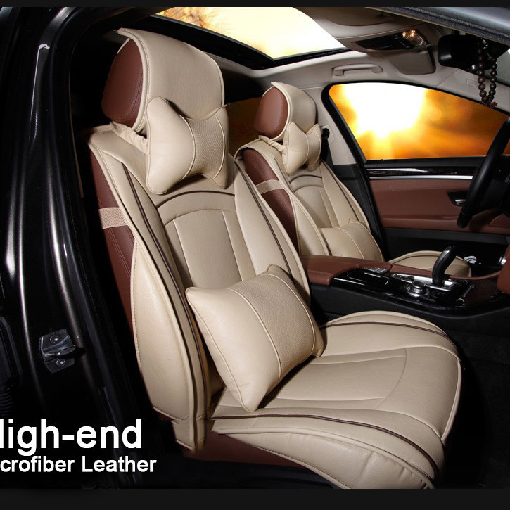 black/coffee/brown/beige new design brand luxury pu leather car seat cover front and rear universal car seat cushion four season<br><br>Aliexpress