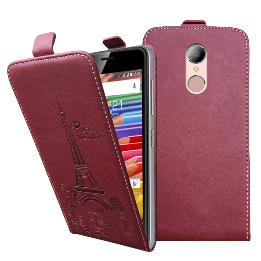 Embossed Pairs towel pu leather flip case Flip Cover Open Phone Bags HomTom HT37 pro