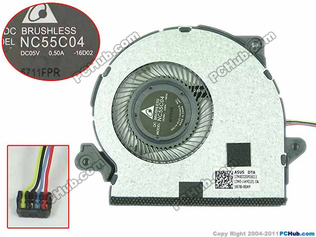 Delta NC55C04 16D02 13NB0CZ0P06011 DC 5V 0.5A Server Laptop Fan<br>