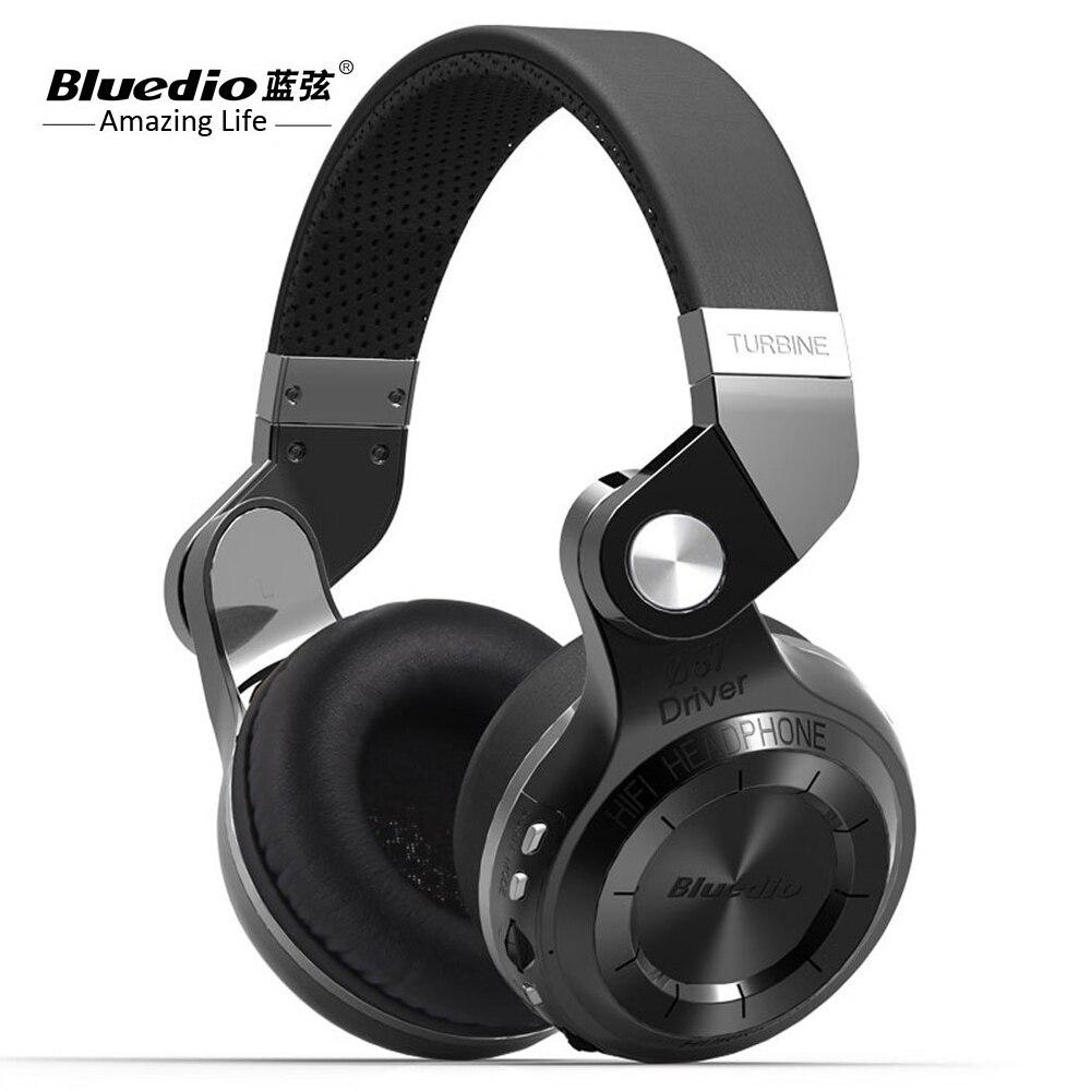 Original Bluedio T2 Bluetooth stereo headphones wireless Bluetooth 4.1 headset Hurricane Series On the Ear headphone for iphone<br>