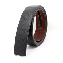 Buy New 100% Cowskin Leather Belt Buckle 3.5cm Wide Real Genuine Leather Belt Without Automatic Buckle Strap Designer Belts for $6.66 in AliExpress store