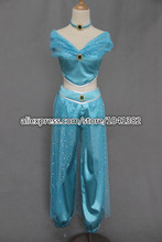 Cosplay Costume Aladdin Princess Jasmine Dress New in Stock Retail / Wholesale Halloween Chritmas Party customized any size