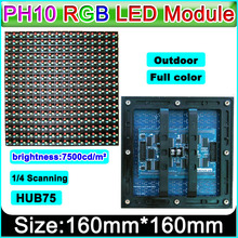 High brightness Outdoor full color display P10 led module, Video ,Graphic, Picture, Text  show,  Large LED Screen P10 RGB Module