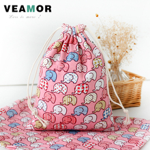 3pcs/set Drawstring Candy Gift Bags for Girls Pink and Blue Elephant Pouch Home Toy Gift Storage Bags B107