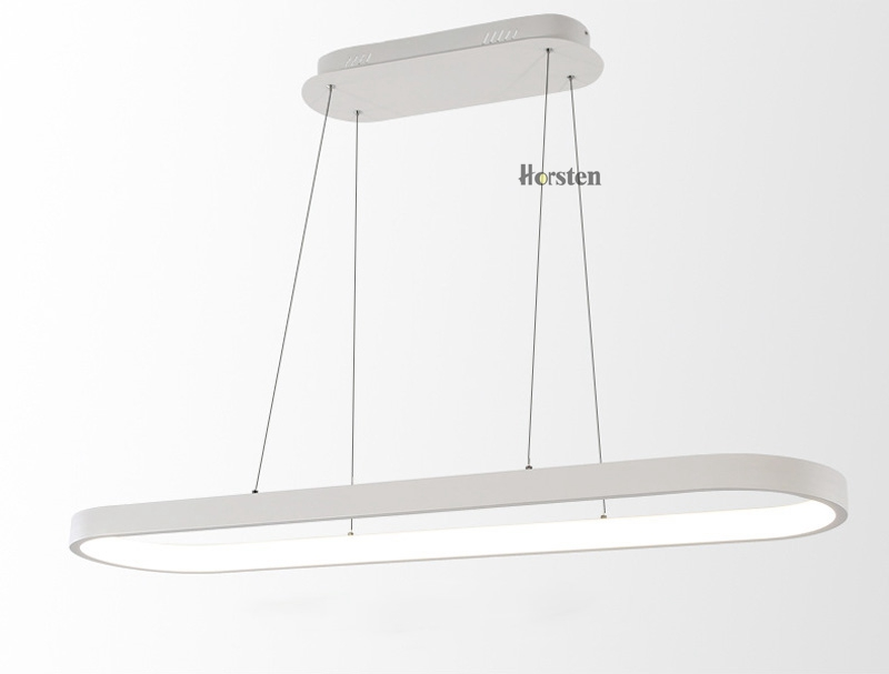 Modern Minimalism Oval Ring LED Pendant Lights Aluminum Acrylic Suspension Hanging Lamps For Dining Room Restaurant Office (9)