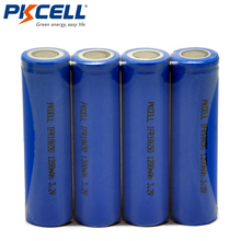 4PCS PKCELL LiFePO4 18650 1200mAh 3.2V Battery lifepo4 IFR 18650 Battery li-ion Rechargeable Battery Cell For Power tools