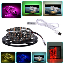 5V USB LED Strip 3535 RGB/2835 50cm 1m 2m 3m 5m Christmas Computer Car Bike Decor Tape Light Lamp for TV Background Lighting