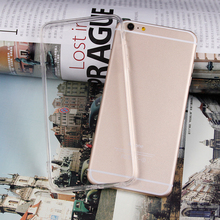 Soft Transparent Clear TPU + Full Clear Acrylic Material Case Cover Skin for iPhone 7 6 6S Plus SE 5 5S With Dust Plug 300pcs