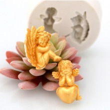 Angel Fondant Silicone Cake Mold Cake Decorating Tools Silicone Baking Cake Molds Candy Clay Gumpaste Chocolate Moulds