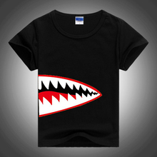 Shark T-Shirt Ocean Big Mouth Hungry 3D Novelty T Shirt Custom Print Pattern Tops Tees Boys Girls Casual Clothing Funny Tshirt
