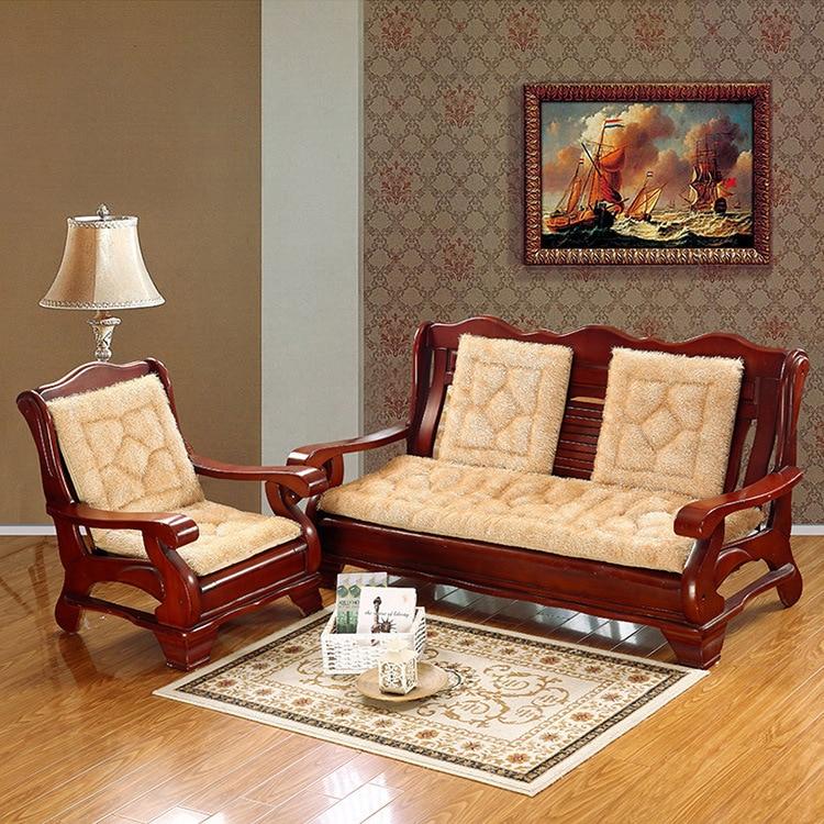 A Simple Modern Korean Plush Sofa Cushion Sponge Cushion Antiskid Cloth Sofa  Cushion Pad Thickening(