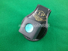 Pool Billiards Snooker Leather Magnetic Belt Clip Chalk Holder Chalk Case Free Shipping Wholesales(China)