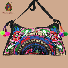 Best seller Ethnic embroidery pattern bags Vintage Shoulder messenger bags brand women bags casual canvas small bags(China)