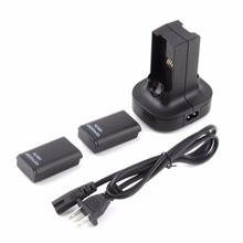 2pcs 4800mAh Rechargeable Battery + Charging Station Charger Dock For Xbox 360 Wholesale Store