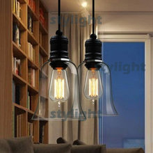 Modern lamp crystal bell glass pendant lights Dining room Indoor Contemporary lighting fixtures small size