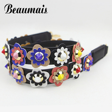 Beaumais 2017 Strap you Flower Female handbag belt women bag strap pu leather bag part bolsa accessories Gifts belt VKN215
