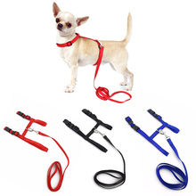 Adjustable Pet Traction Belt Cat Dog Accessories Halter Dog Collar Small Pet Dog Harness And Leash Chihuahua 3 Colors Nylon