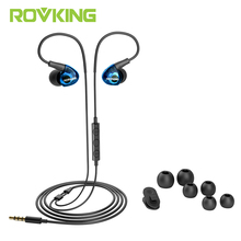 ROVKING Ear Hook Wired Sports Earphone IPX5 Waterproof Dynamic Headphone Super Lightweight with Microphone For Running Jogging(China)