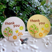 Buy 120PCS Cute Tree THANK YOU design Seal Sticker Labels Gift Paper stickers Hand made Product Party Wedding seals for $1.95 in AliExpress store