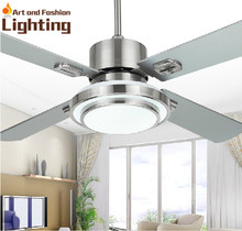 Stainless Steel Ceiling Fan Light 4 Blade Stainless Steel 42 Inches Ceiling Fan With Lights LED SMD Supplied