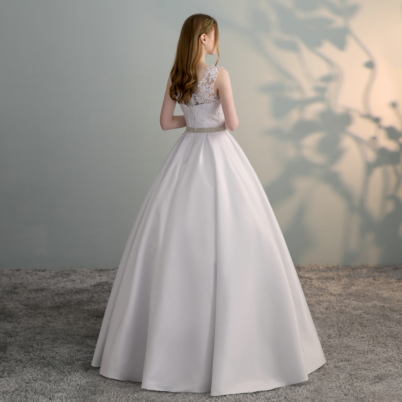 Gorgeous White Wedding Dresses 2018 New Sexy Formal Wedding Dress Long Tulle Appliques Ball Gown Ivory Wedding Gowns Custom made 4