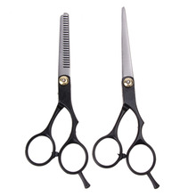 2pcsBarber Hair Cutting Thinning Scissors Shears Hair Cutting Thinning Shears Stainless steel Scissors Set Salon Professional(China)