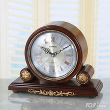 Meijswxj Saat Desk Clock Reloj Retro Bracket Clock Bedside Creative Mute Table Clocks Relogio Reveil Masa saati Relogio de mesa(China)