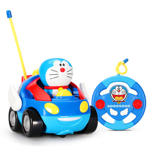 Doraemon Remote Control Car 12cm Wireless Drift Speed Racing Car Boy Toy(China)