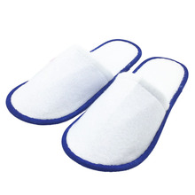 5 pairs of White Towelling Hotel Disposable Slippers Terry Spa Guest Shoes