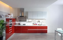 High gloss/lacquer kitchen cabinet mordern(LH-LA061)(China)
