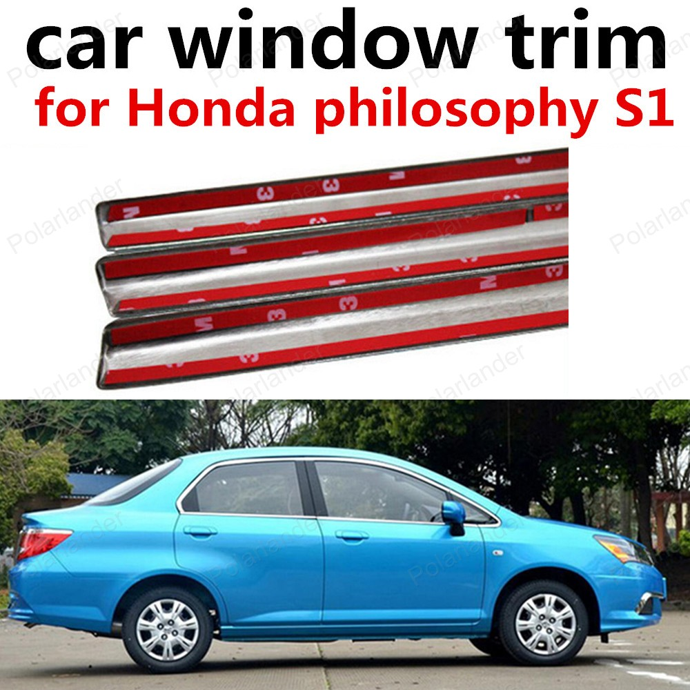 hot sell Chromium Styling Stainless steel decoration cover for Honda philosophy S1 Car window trim<br><br>Aliexpress