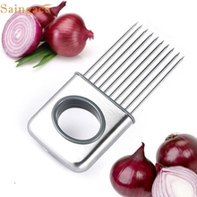 Saingace Creative Onion Holder Vegetable Potato Cutter Slicer Gadget Stainless Steel Fork Gifts High Quality Stailess Steel
