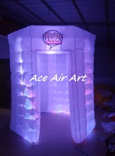custom lighting circle booth tent white octagon inflatable photo booth  for advertising