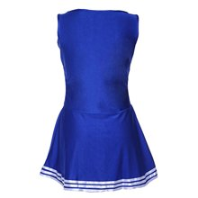 Hot Tank Dress Blue Pom pom girl cheerleaders dress fancy dress L(38-40)