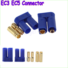 2pair Male Female EC3 3mm EC5 Type Battery Connector Gold Battery Connector Bullet Plug PTCT Battery Terminal Connector