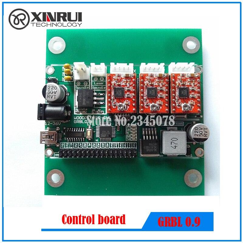 GRBL 0.9J,USB port cnc engraving machine control board, 3 axis control,laser engraving machine board<br>
