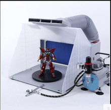 Portable Hobby Airbrush Paint Spray Booth Kit Exhaust Filter Extractor Set Model Crafts Figurines