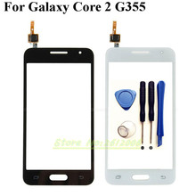 Touch Screen Digitizer Front Glass Panel For Samsung Galaxy Core 2 G355 G355H Touchscreen Sensor Touchpad Replacement + tools
