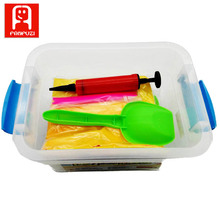 New Safety Plastic tool Small model Educational Sand Magic Play Sand Children Toys Random Mold Colored Sand Tools Moulds(China)
