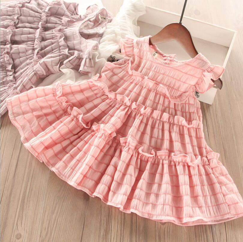 2019 Baby Girls Summer Pleats Dress, Princess Children Sweet Dress 5 pcs/lot, Wholesale
