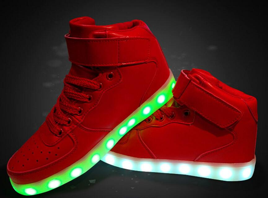 LED shoes for men women classic red high top lighting shoes casual flats luminous shoes for spring summer dropshipping<br><br>Aliexpress