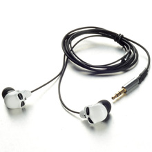 1 Piece Hot Sale Unique Desgin 3.5mm In Ear Earphone Skull Stereo Headset For MP3 MP4 Smartphone Earphones(China)